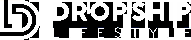Drop Ship Lifestyle Logo - White