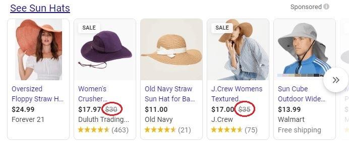 shopping ads example